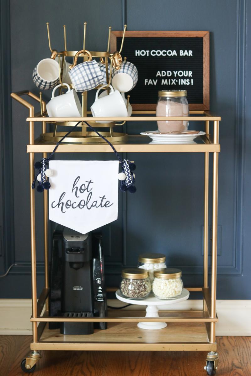 Easy DIY Hot Cocoa Bar - perfect for entertaining!
