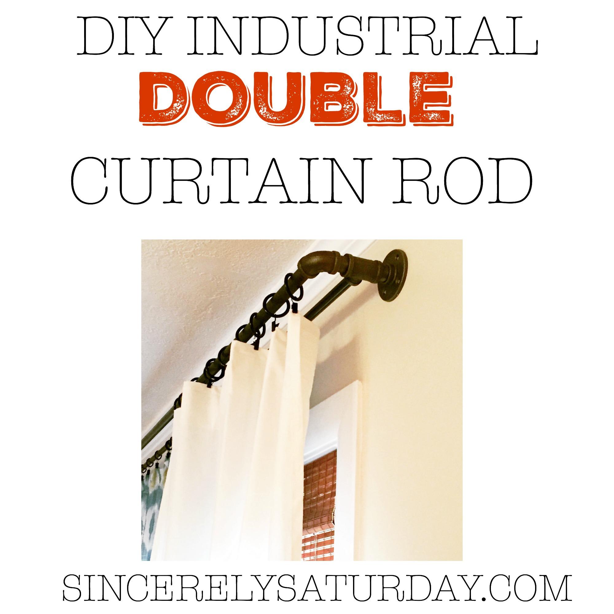 diy industrial double conduit curtain