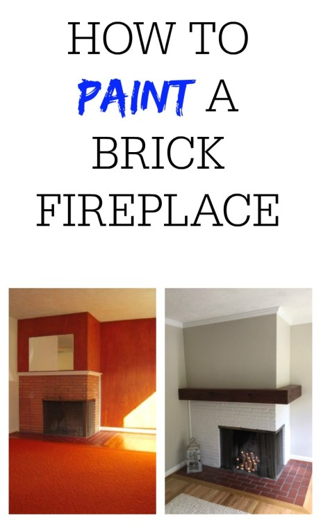 How To Paint A Brick Fireplace Sincerely Saturday