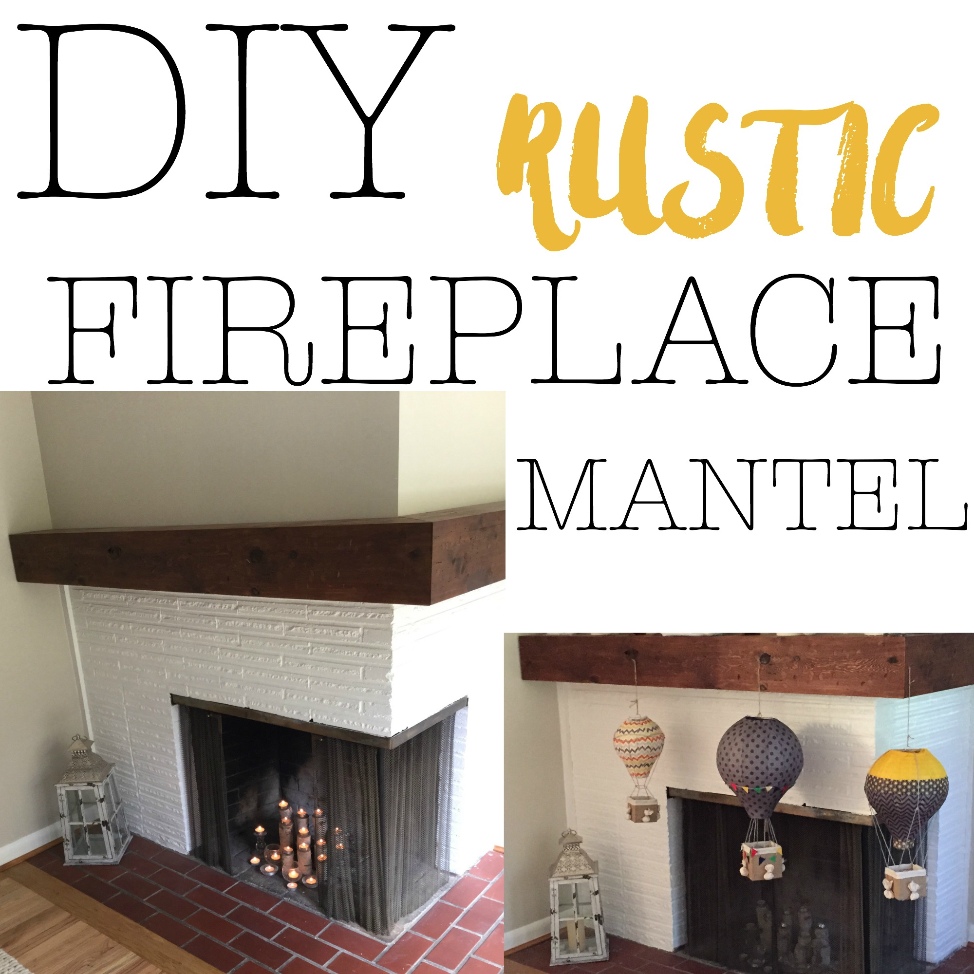 rustic fireplace mantel