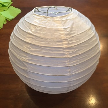 Tissue paper covered lantern