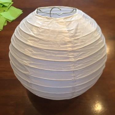 Tissue paper covered lantern
