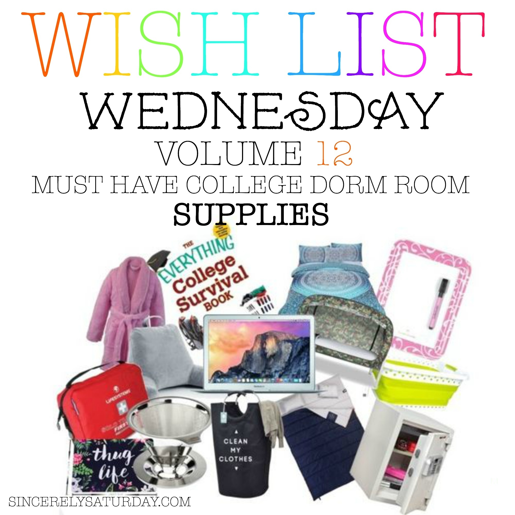 MUST HAVE COLLEGE DORM ROOM SUPPLIES   WISH LIST WEDNESDAY #12 | Sincerely  Saturday Part 44