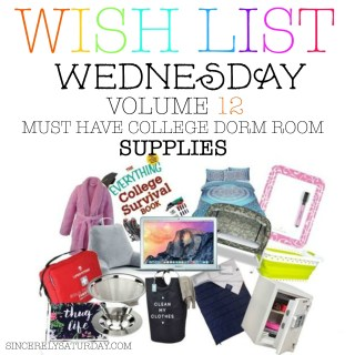 MUST HAVE COLLEGE DORM ROOM SUPPLIES - WISH LIST WEDNESDAY #12