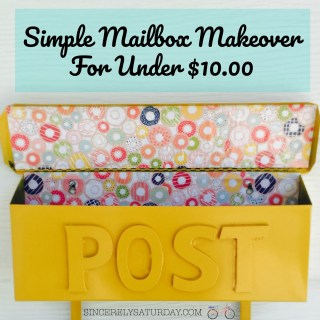Simple mailbox makeover for under $10.00