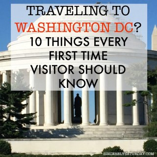 TRAVELING TO WASHINGTON DC? 10 THINGS EVERY FIRST TIME VISITOR SHOULD KNOW.