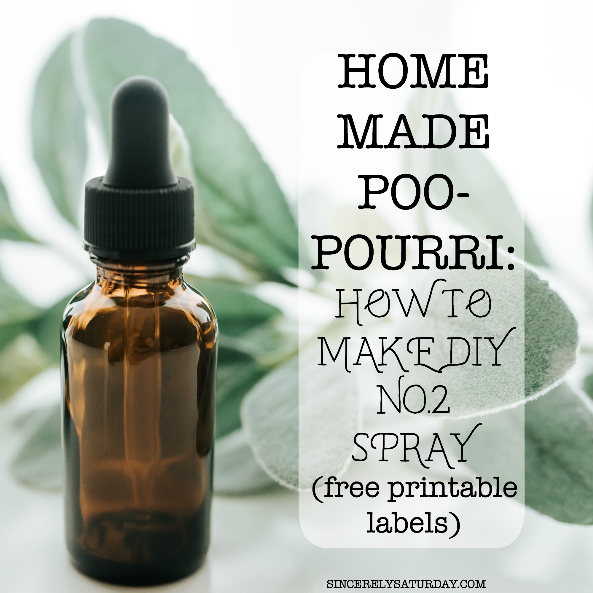 homemade poo-pourri: how to make diy no.2 spray (printable labels