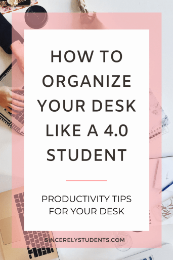How to organize your desk to maximize productivity!