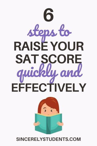6 steps to raise your SAT score quickly and effectively