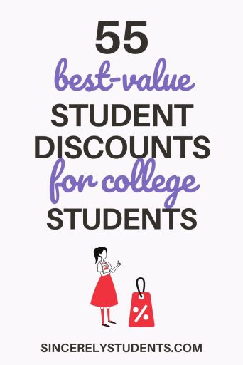 55 best discounts for college students