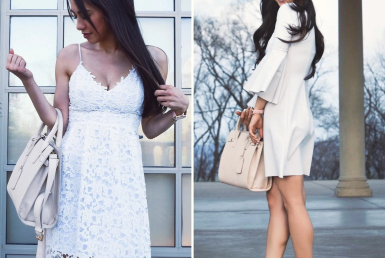 white dresses for multiple occasions lace bell sleeves