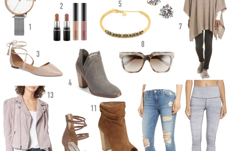 Nordstrom anniversary sale still in stock sunglasses watch jeans leggings moto jacket booties flats jewelry makeup