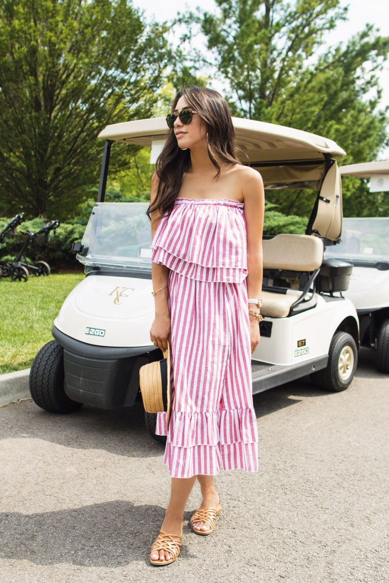 shein-two-piece-set-red-white-pinstripe-dress-skirt-ruffle-tube-top-blogger