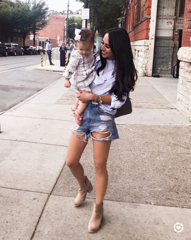 HInge Ankle Booties Nordstrom Fall Sale Mother Daughter Blogger brittany seiden sincerely styled