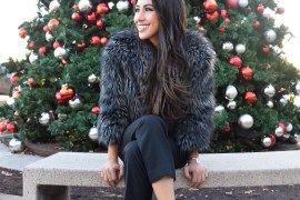 christmas blogger sincerely styled brittany seiden faux fur jumpsuit 2