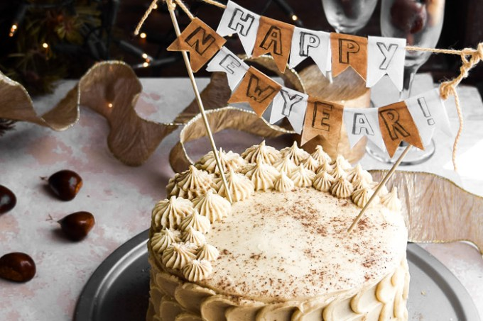 Chestnut Cake + Eggnog Buttercream Frosting (4)