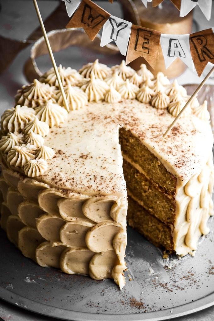 Chestnut Cake + Eggnog Buttercream Frosting (6)