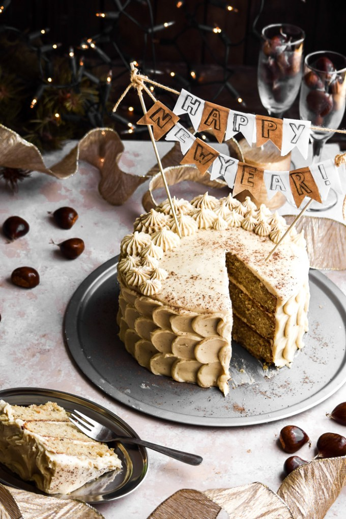 Chestnut Cake + Eggnog Buttercream Frosting (7)