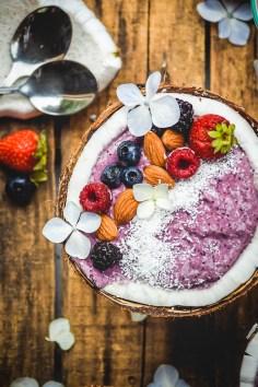 Berry Coconut Breakfast Smoothie Bowls (Vegan+GF)-2