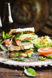 Sourdough Caprese BLAT Sandwiches + Roasted Garlic Butter (Vegan)-2