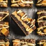 vegan peanut butter cookie bars