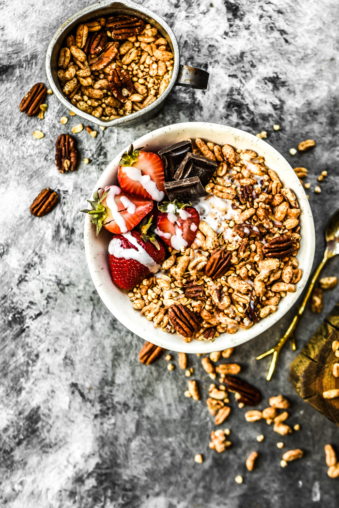 Crunchy Maple Cinnamon Pecan Cereal