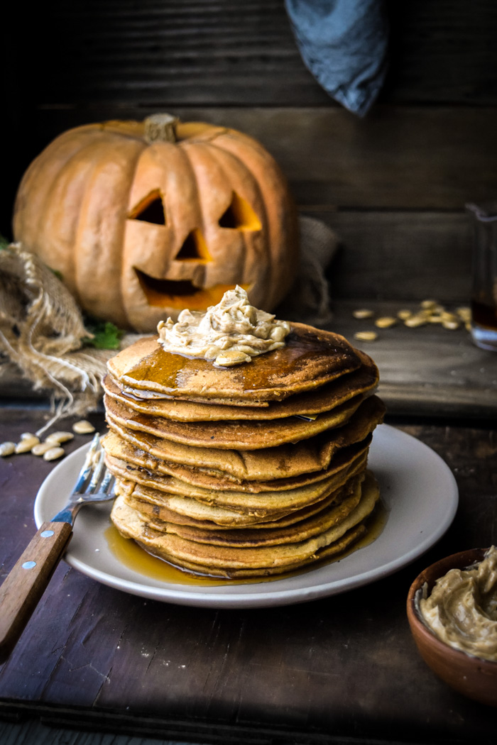 The BEST Pumpkin Pancakes and Maple Butter Vegan and Gluten Free