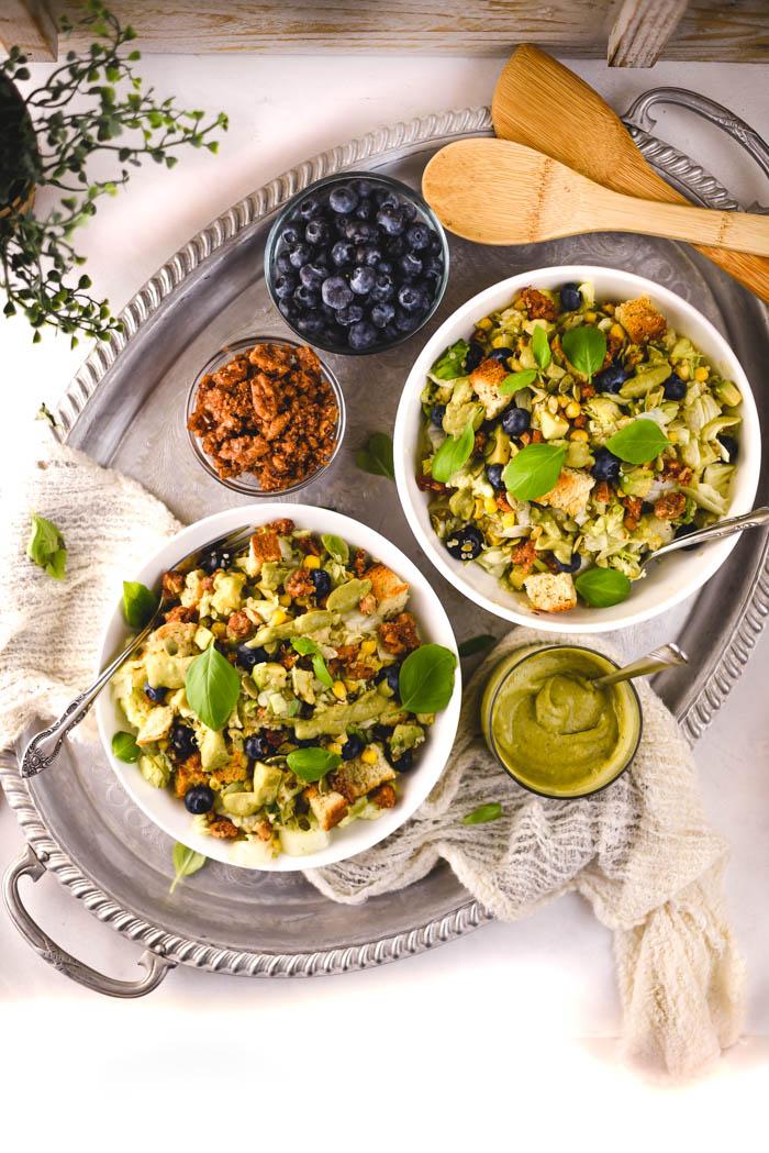 vegan blueberry avocado quinoa salad recipe