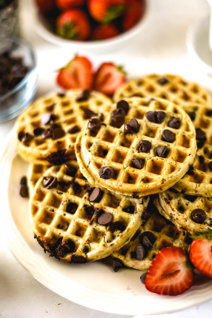 coconut cream waffles vegan anf gluten free