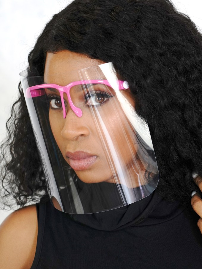 Cover Me Clear Face Shield-Pink 1