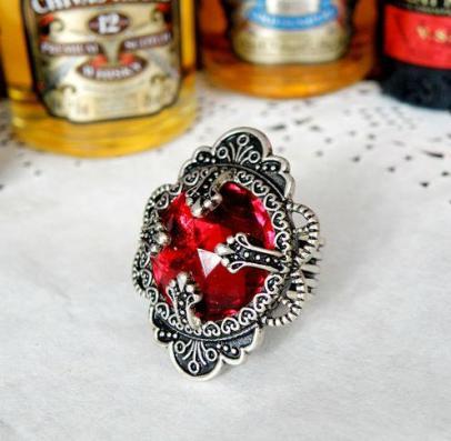 RG-FJ-15-71-FW_M - Antique Red Gem Stone $30