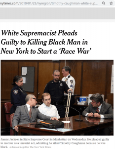 White supremacist pleads guilty to killing black man