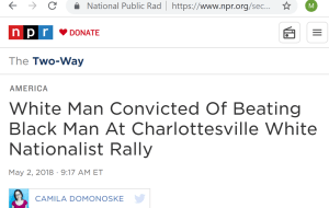 White man convicted of beating black man