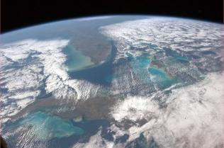 Cuba, the Bahamas, Florida, the Universe. Photo shared by Col. Chris Hadfield.