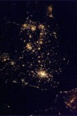 The U.K. shines so bright, you can still make out its shape from space at night. Photo shared by Col. Chris Hadfield.