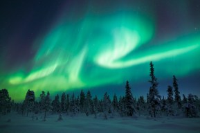 The Northern lights (a.k.a. Aurora Borealis) is something I definitely want to see one day. Source