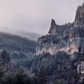 """""""Eagle's Peak,"""" ravines formed by the Tagus River"""