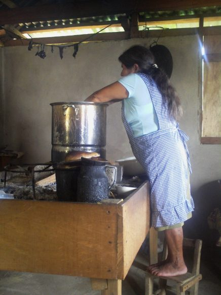 Lucia preparing traditional Mesoamerican Tamales in her kitchen in Huautla- picture taken by Heather Fern Vuchinich