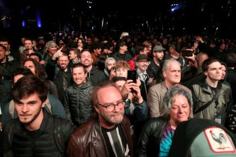 ANAHEIM, CALIFORNIA - JANUARY 16: Guests attend the performance of Animals as Leaders at The 2020 NAMM Show Opening Day on January 16, 2020 in Anaheim, California. (Photo by Jesse Grant/Getty Images for NAMM)
