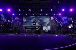 ANAHEIM, CALIFORNIA - JANUARY 16: Michael W. Smith (C) performs at The 2020 NAMM Show Opening Day on January 16, 2020 in Anaheim, California. (Photo by Jesse Grant/Getty Images for NAMM)