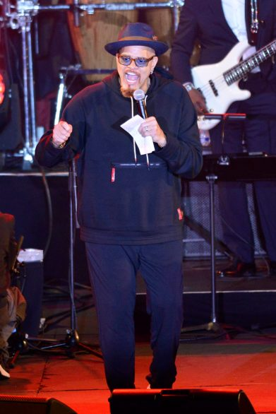 ANAHEIM, CALIFORNIA - JANUARY 17: Sinbad speaks onstage at The 2020 NAMM Show on January 17, 2020 in Anaheim, California. (Photo by Jerod Harris/Getty Images for NAMM)