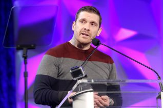 ANAHEIM, CALIFORNIA - JANUARY 17: Brent Smith speaks onstage at The 2020 NAMM Show on January 17, 2020 in Anaheim, California. (Photo by Jesse Grant/Getty Images for NAMM)