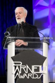 ANAHEIM, CALIFORNIA - JANUARY 17: Terry Lowe speaks onstage at The 2020 NAMM Show on January 17, 2020 in Anaheim, California. (Photo by Jesse Grant/Getty Images for NAMM)