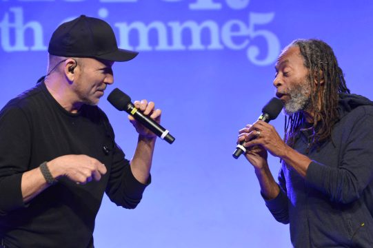 ANAHEIM, CALIFORNIA - JANUARY 18: Bobby McFerrin (R) performs onstage at The 2020 NAMM Show on January 18, 2020 in Anaheim, California. (Photo by Jerod Harris/Getty Images for NAMM)