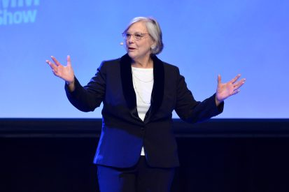 ANAHEIM, CALIFORNIA - JANUARY 18: Mary Luehrsen speaks onstage at The 2020 NAMM Show on January 18, 2020 in Anaheim, California. (Photo by Jerod Harris/Getty Images for NAMM)