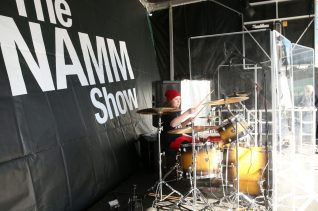 ANAHEIM, CALIFORNIA - JANUARY 18: Drummers perform at Hit Like a Girl at The 2020 NAMM Show on January 18, 2020 in Anaheim, California. (Photo by Jesse Grant/Getty Images for NAMM)