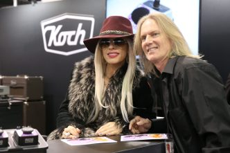 ANAHEIM, CALIFORNIA - JANUARY 18: Orianthi (L) attends The 2020 NAMM Show on January 18, 2020 in Anaheim, California. (Photo by Jesse Grant/Getty Images for NAMM)