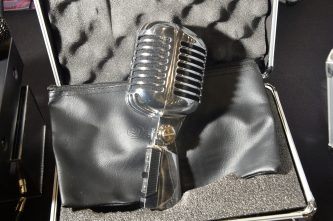 ANAHEIM, CALIFORNIA - JANUARY 18: A microphone on display at The 2020 NAMM Show on January 18, 2020 in Anaheim, California. (Photo by Jerod Harris/Getty Images for NAMM)