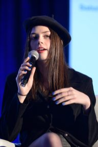 ANAHEIM, CALIFORNIA - JANUARY 18: Elise Trouw speaks onstage at The 2020 NAMM Show on January 18, 2020 in Anaheim, California. (Photo by Jerod Harris/Getty Images for NAMM)