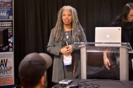 ANAHEIM, CALIFORNIA - JANUARY 18: Leslie Gaston-Bird speaks at The 2020 NAMM Show on January 18, 2020 in Anaheim, California. (Photo by Jerod Harris/Getty Images for NAMM)